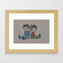 Sitting Framed Art Print