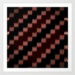 Dark, Red. Fuzzy. Static. Art Print
