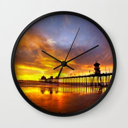 Days End Reflections Wall Clock
