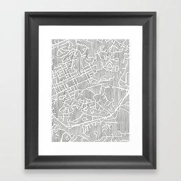 chapel hill city print Framed Art Print