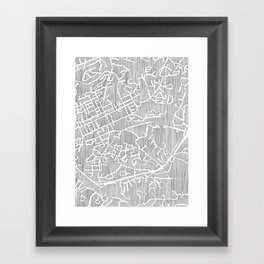 chapel hill city print Framed Art Print