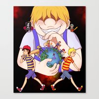 earthbound Canvas Prints featuring Earthbound 2+3 by m0ny