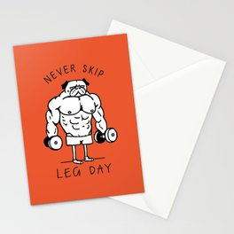 Never Skip Leg Day Stationery Cards