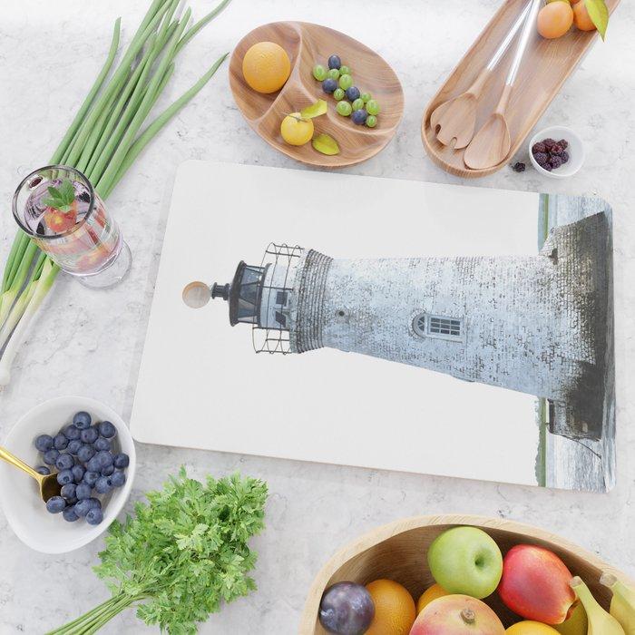 Lighthouse Illustration Cutting Board