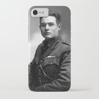 hemingway iPhone & iPod Cases featuring Ernest Hemingway in Uniform, 1918 by Limitless Design
