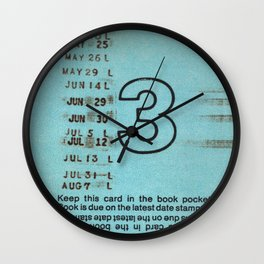 Ilium Public Library Card No. 3 Wall Clock