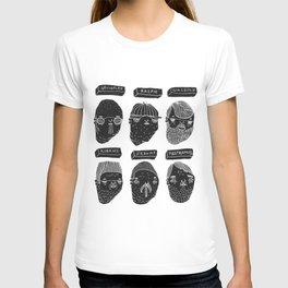 Black heads T-shirt