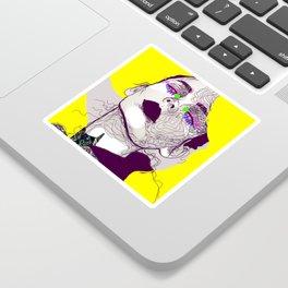 Purple woman Sticker
