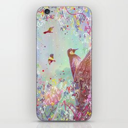 Curious Woodpecker and Friends iPhone Skin
