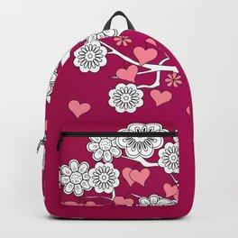 romantic tree on vinous Backpack