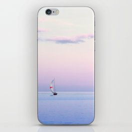 Sailboat Under a Pink Pastel Sky iPhone Skin