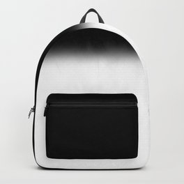 Black and White Split Fade Inverse Backpack