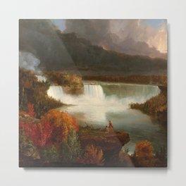 Distant View of Niagara Falls,1830, Thomas Cole Metal Print