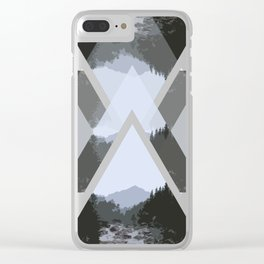 Landscape in Triangles Clear iPhone Case