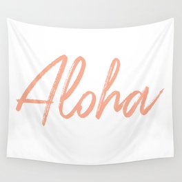 Aloha in Pink Wall Tapestry