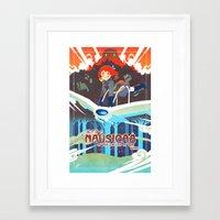 nausicaa Framed Art Prints featuring princess of the wind valley by xfreischutz