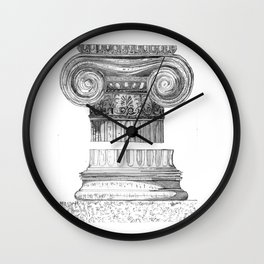 Ionic Capital - Pencil Wall Clock