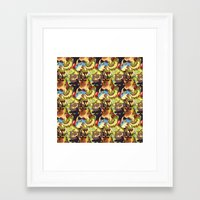 dragons Framed Art Prints featuring Dragons! by Flora