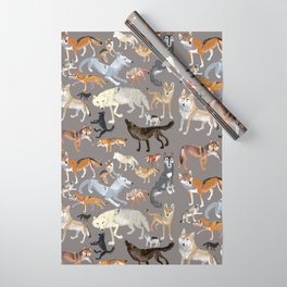 Wolves of the world 1 Wrapping Paper
