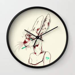 goopy rabbit Wall Clock