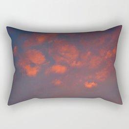 Red clouds shining at sunset Rectangular Pillow