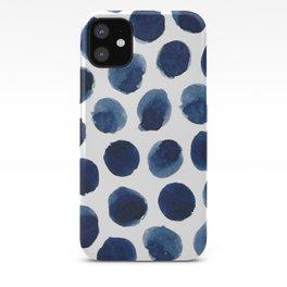 Watercolor polka dots iPhone Case