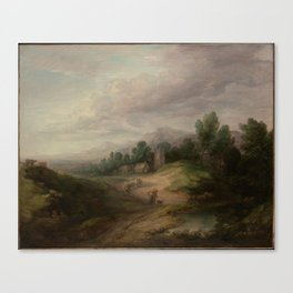 Wooded Upland Landscape,probably 1783 Canvas Print