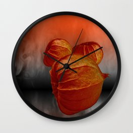 Physalis fire -1- Wall Clock