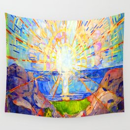 Edvard Munch The Sun Wall Tapestry