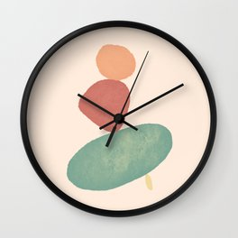 Balancing Act III Wall Clock