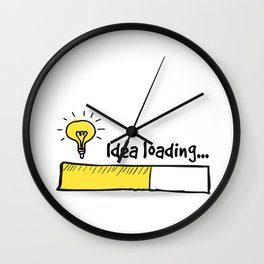 Idea Loading Wall Clock