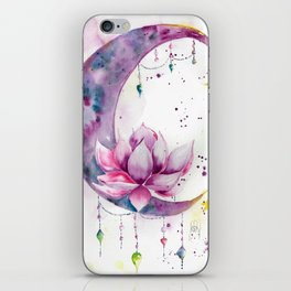 Moon with Lotus iPhone Skin