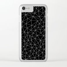 Low Pol Mesh (negative) Clear iPhone Case