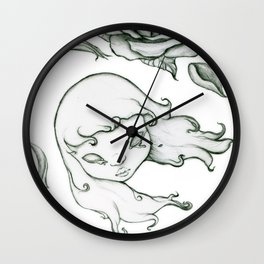 Rose in the wind Wall Clock