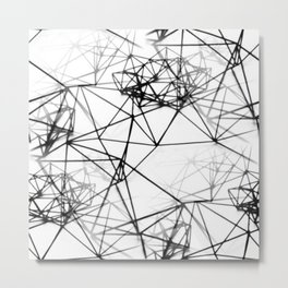Geometric himmeli ornaments as minimal seamless pattern Metal Print