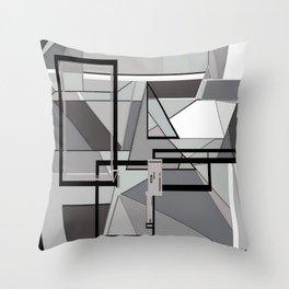 Gray Geometry Throw Pillow