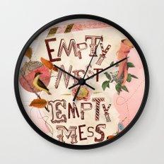 Empty Nest • Empty Mess Wall Clock