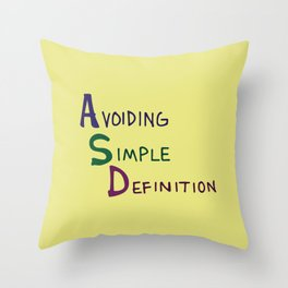 ASD Acronym Throw Pillow