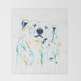 Polar Bear Unconditional Love Throw Blanket