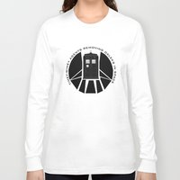 agents of shield Long Sleeve T-shirts featuring Agents of TARDIS black and white Agents of Shield, Doctor Who mash up by Whimsy and Nonsense