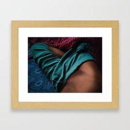 Green 8 Framed Art Print