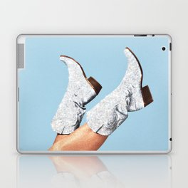 These Boots - Glitter Blue Laptop & iPad Skin