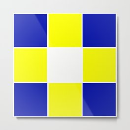 TEAM COLORS 3...YELLOW ,BLUE Metal Print