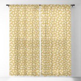 White Moths Sheer Curtain