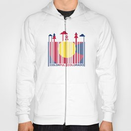 Colorful Colorado Barcode Flag Hoody