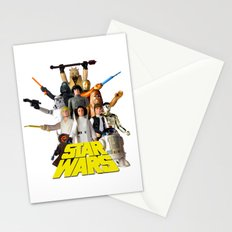 Star War Action Figures Poster - First 12 - Square Stationery Cards