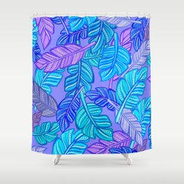 Gouache feather cool pattern Shower Curtain