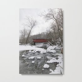 Thomas Mills Covered Bridge, Philadelphia Metal Print