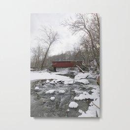 Thomas Mills Covered Bridge, Philadelphia Metal Print