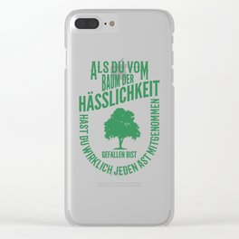 Tree Of Ugliness Funny Mechanic Office Gift Clear iPhone Case